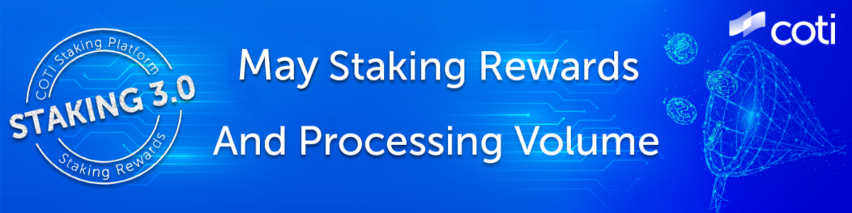 Processing Volume Has Increased To Nearly $25M And May Staking Rewards Distributed