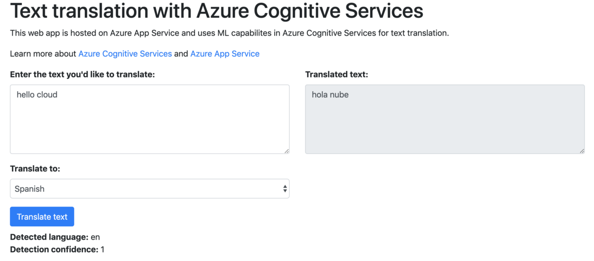 Tutorial: Build a text translation app with Azure Cognitive Services