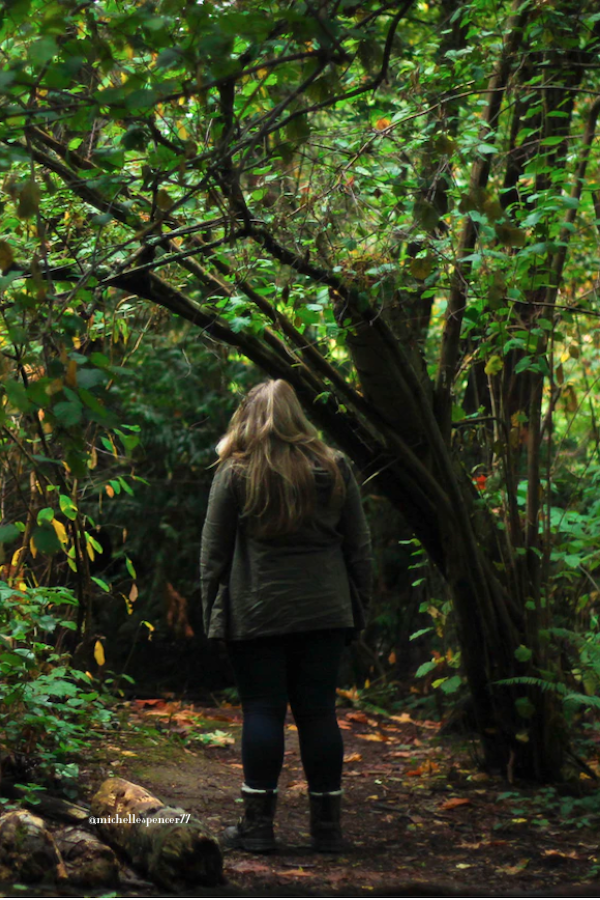 """alt=""""A practical Travel Tip for Introverts; A walk in the woods helps soothe the soul"""""""