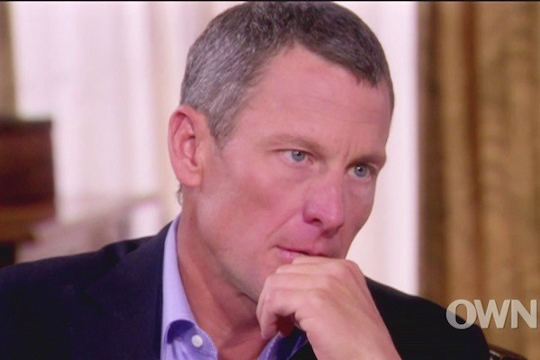 Lance Armstrong confesses to Oprah that he cheated to win.
