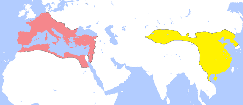 Qin Empire Map on