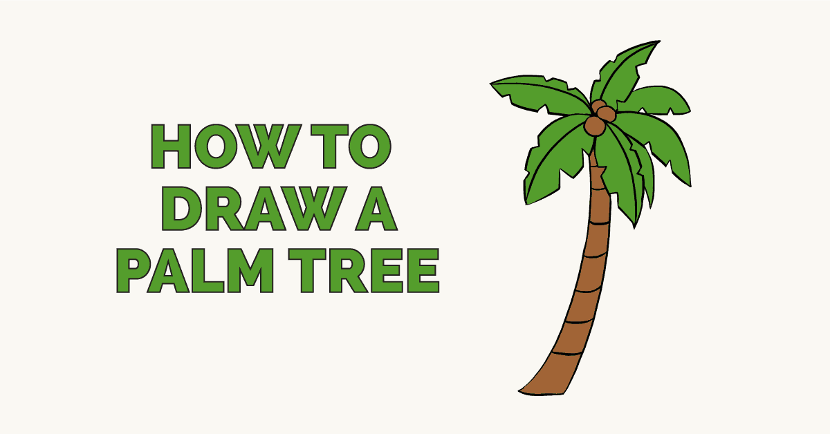 How To Draw A Palm Tree Really Easy Drawing Tutorial By Easy Drawing Guides Medium Tropical leaf palm print, showing various tropical plants together in one poster. how to draw a palm tree really easy