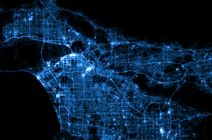 Mapping Millions of Dots - Points of interest on linear transformation,
