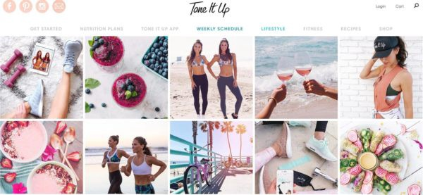 Tone It Up has grown exponentially from a once meal-plan/online work out guide service to now offer products from brand name protein powder to bathing suits