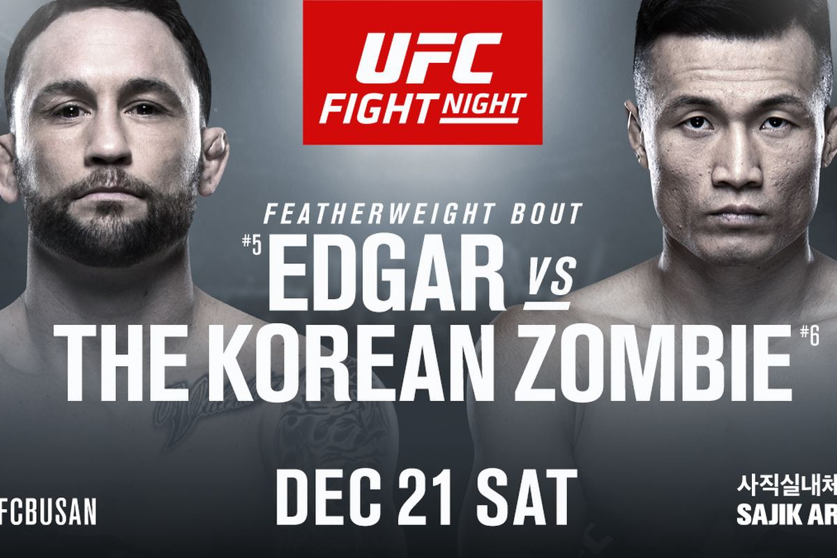 Watch UFC Fight Night 165 Edgar Vs The Korean Zombie 12/21/19