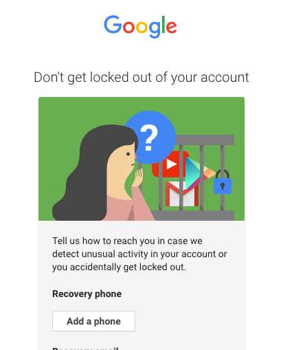 Adding a phone number to your Google account can make it LESS secure