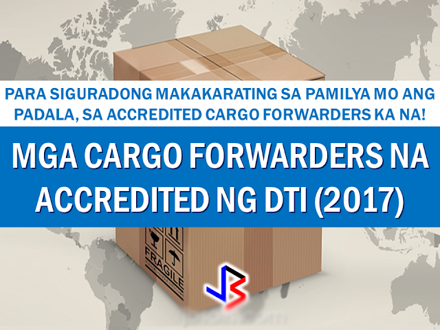 2017 LIST OF DTI ACCREDITED CARGO FORWARDERS - Videoz