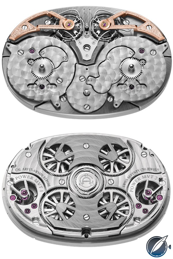 Armin Strom Caliber ARF17 with two independent movements in resonance