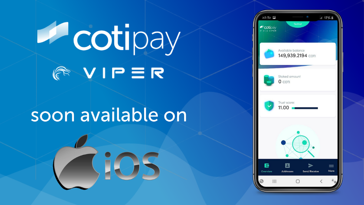 Preview: COTI Pay VIPER for iOS