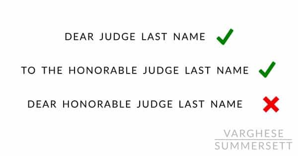 how to address the judge
