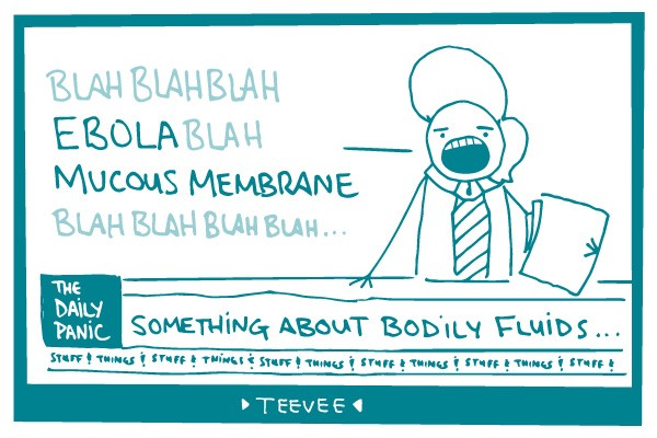 Illustration of person talking about Ebola.