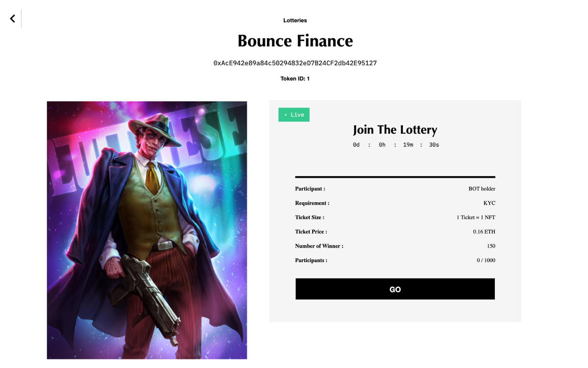 How Participate in NFT Lottery Auction on Bounce Finance