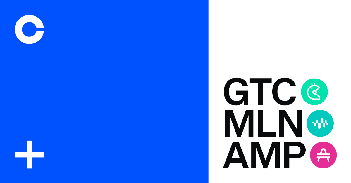 Gitcoin (GTC), Enzyme Token (MLN) and Amp (AMP) are now available on Coinbase