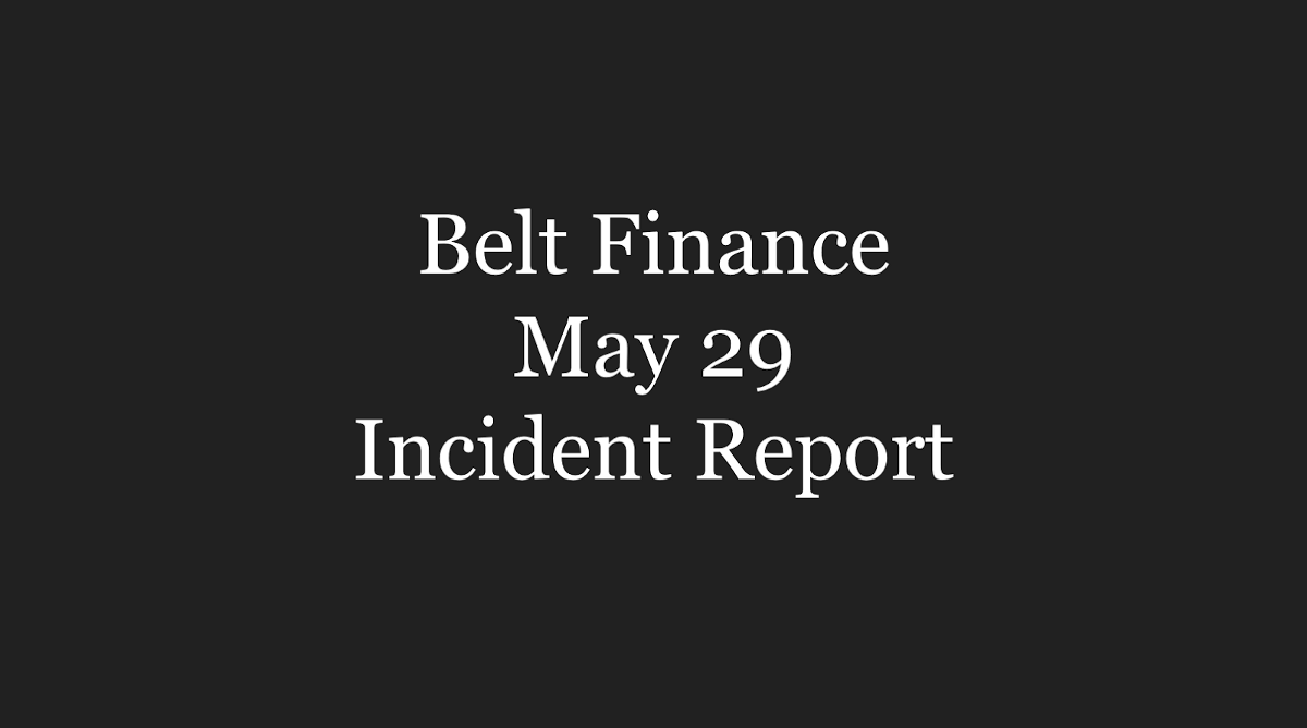 May 29 Incident Report