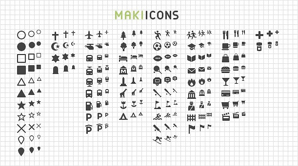 Introducing Maki 2 0: Clean Open Source Map Icons - Points