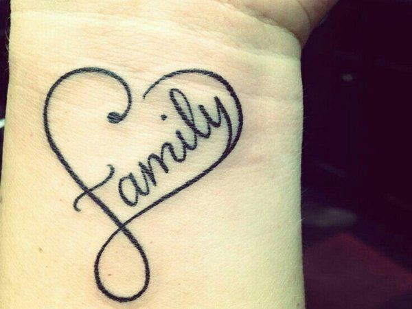 97a78812ce445 Via 12 Wonderful Heart Wrist TattoosEveryone will know you love your family  when it's surrounded by a heart.