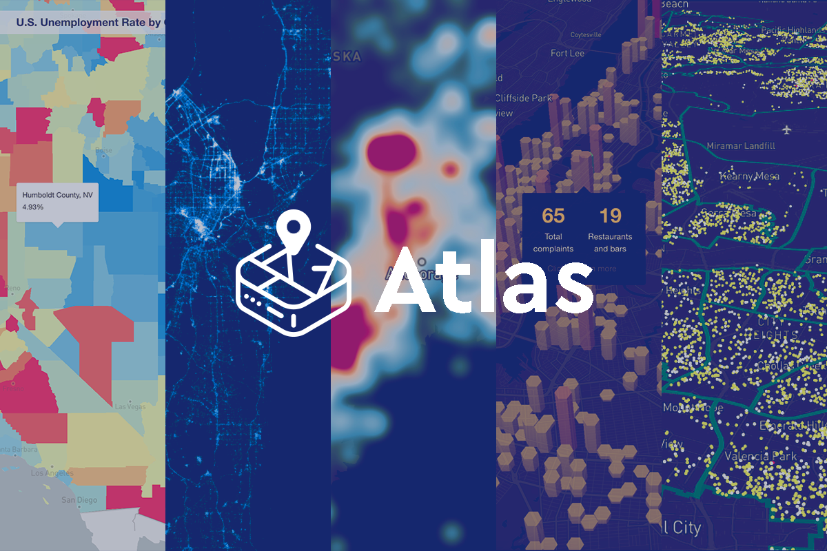 5 data visualization techniques for Atlas - Points of interest