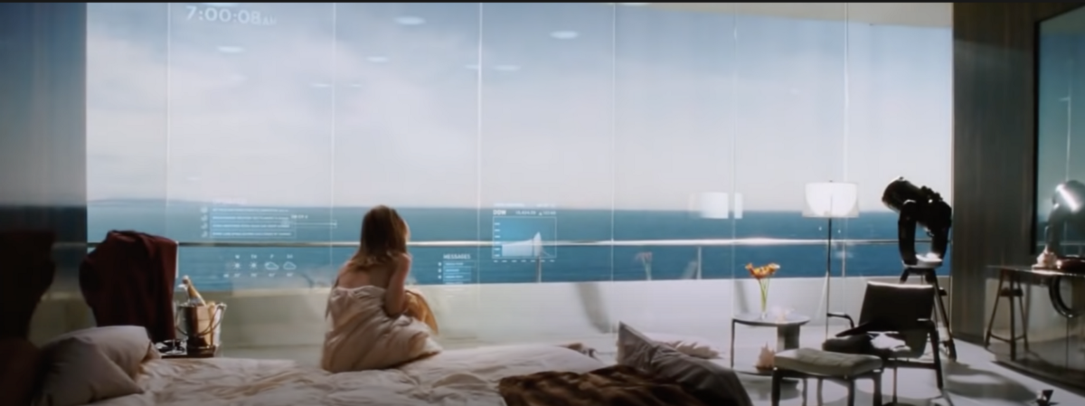 I've always loved the scene in Ironman when upon rising in the morning, the curtains are opened, coffee starts brewing, music starts playing and per