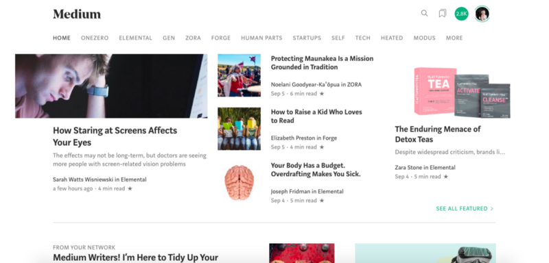 Breaking Down the Medium Algorithm by Analyzing the Medium Homepage