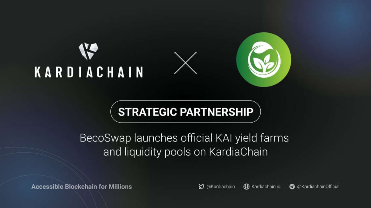 BecoSwap launches official KAI yield farms and liquidity pools on KardiaChain