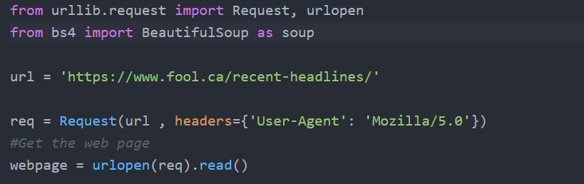 How to Web Scrape using Beautiful Soup in Python without