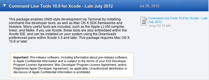 Can't configure with cmake in Mac OS X 10 8 and Xcode 4 4