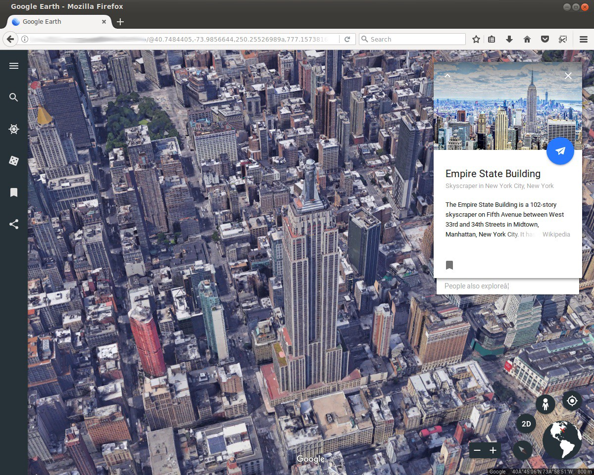 Earth on Web: The road to cross browser - Google Earth and Earth