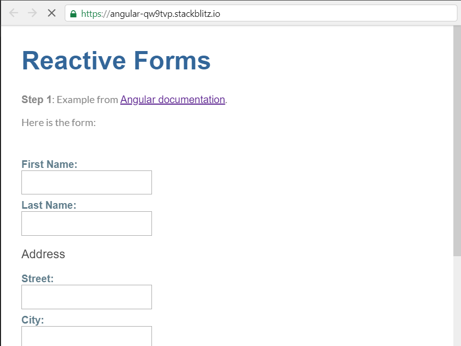 Using Wijmo Input Controls in Angular Reactive Forms