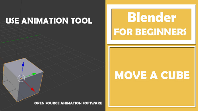 Blender– Move a cube using Keyframe animation Tool