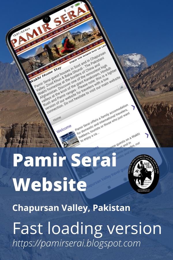 Pamir Serai Guest Houses, Chapursan Valley, Pin
