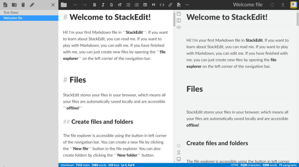 StackEdit: a feature-rich, web-based markdown editor ✏️