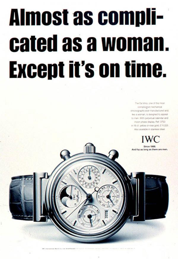 Women complicated? IWC stepping on toes in the name of marketing