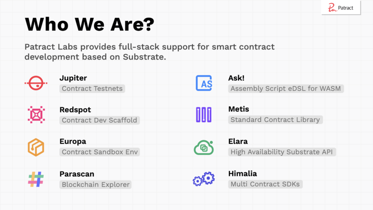 2021 Sub0 online: Wasm Smart Contract with Patract Labs