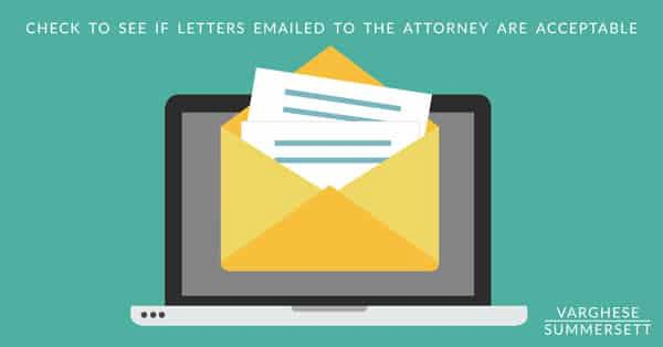 letters to the judge
