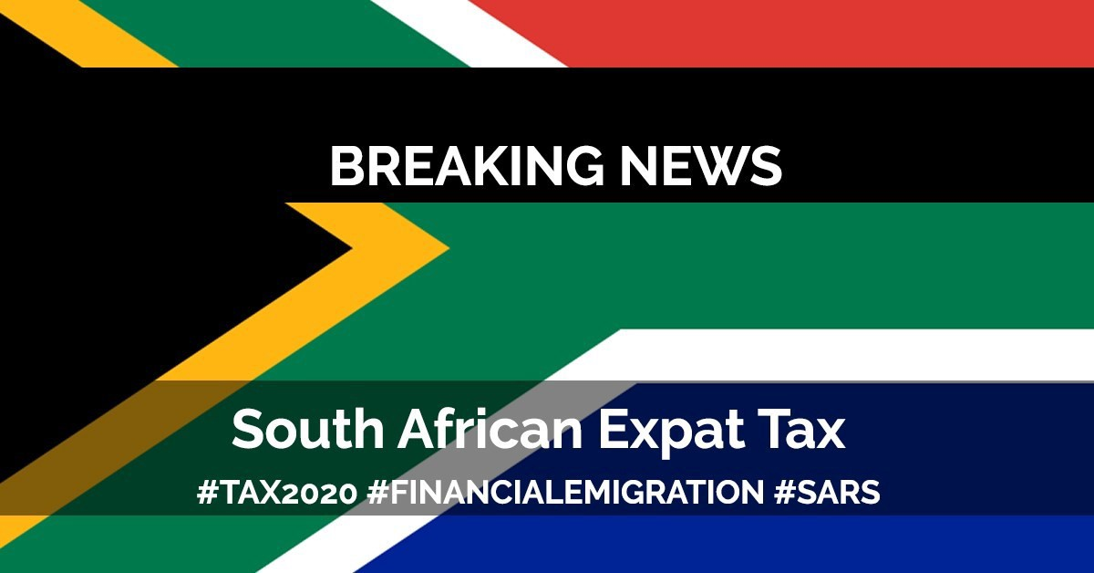 2020 New Tax Laws.South Africa Expat Tax Update 2020 Mike Coady Medium