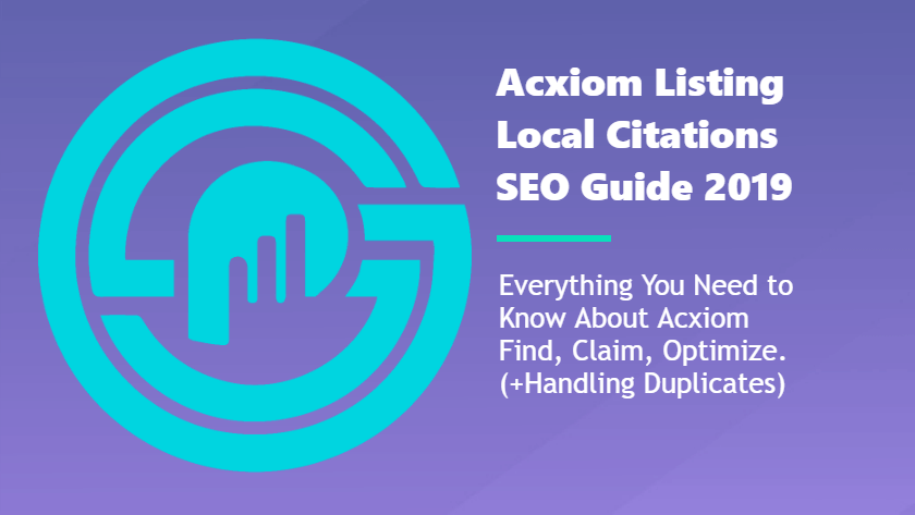 How to Claim & Optimize Acxiom Business Directory Listings
