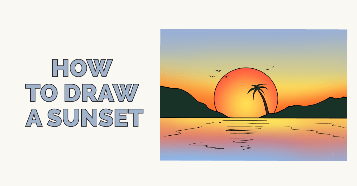 How To Draw A Sunset Really Easy Drawing Tutorial By Easy Drawing Guides Medium