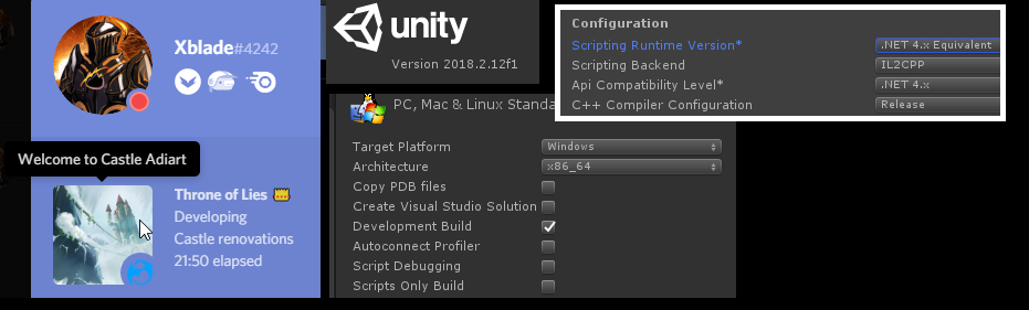 Working with Unity's IL2CPP Support with Discord and Windows