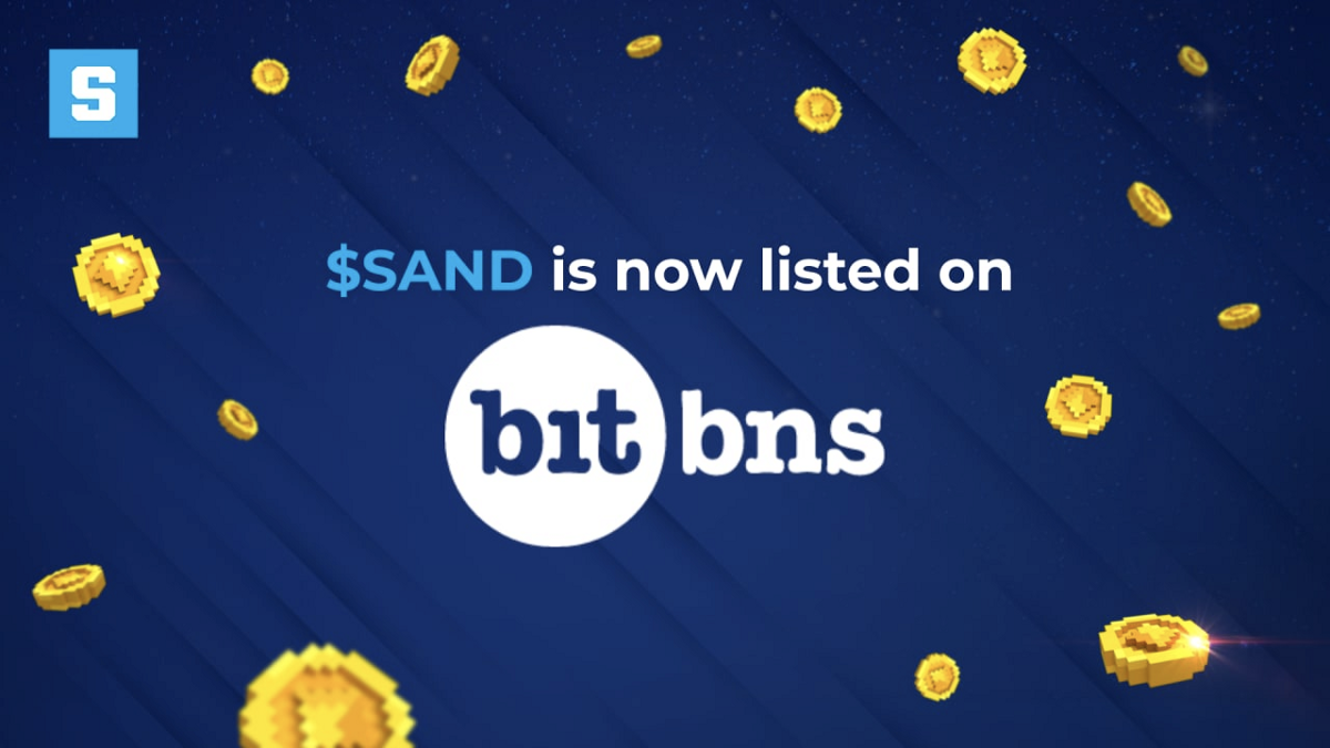 $SAND Lists on Bitbns—The Crypto Exchange Making Cryptocurrencies Accessible to Everyone at the…