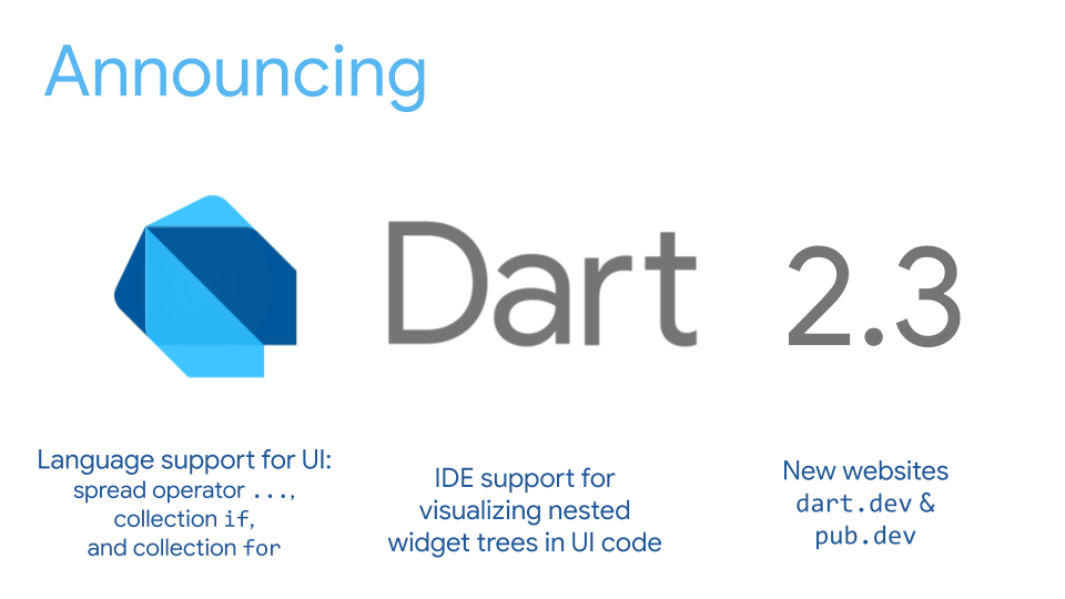 Announcing Dart 2 3: Optimized for building user interfaces
