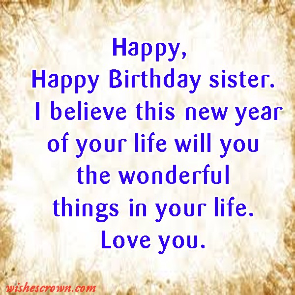 Top 40 Birthday Wishes For Younger Sister Quotes Sms Images By Wishes Crown Medium