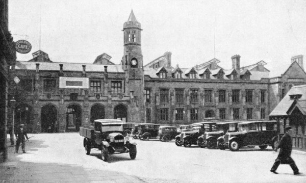 This is the picture of Carlisle train station in Cumbria in 1800's. You get taxis from this place for hire
