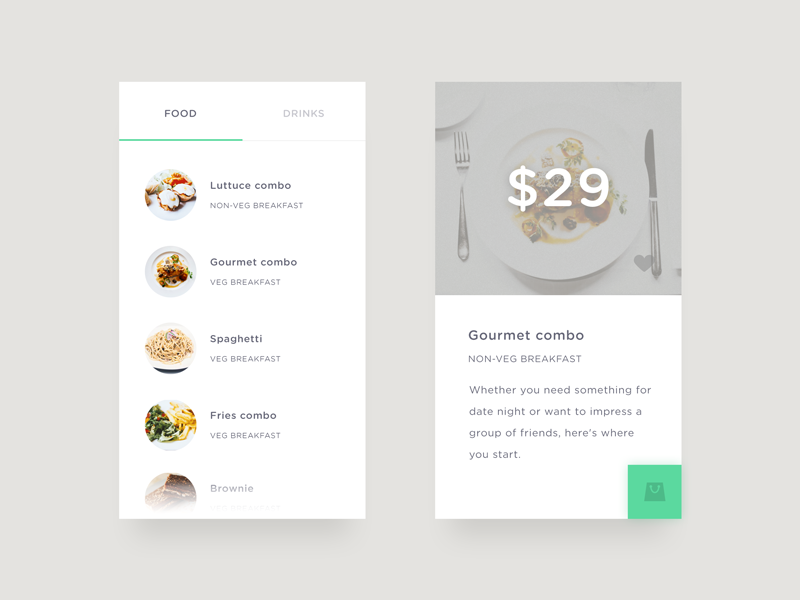 9 Amazing Food & Drink menu UI for Restaurant apps - React