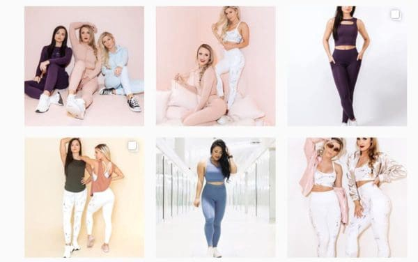 Her clothing line is a direct continuation of her personal branding: bright pastel colors, effeminate styles, but functionality to endure intense exercise.