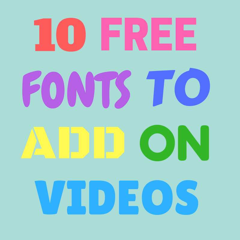 10 Free Fonts To Add Text On Your Videos - Typito - Medium