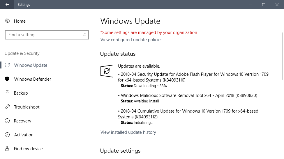 Microsoft Windows Security Updates April 2018 release overview