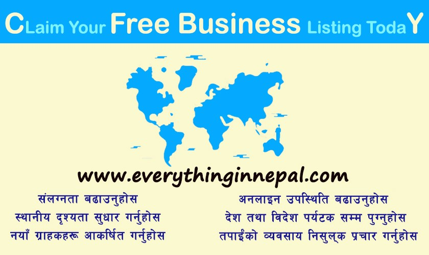 CLAIM YOUR FREE BUSINESS LISTING - Everything In Nepal - Medium
