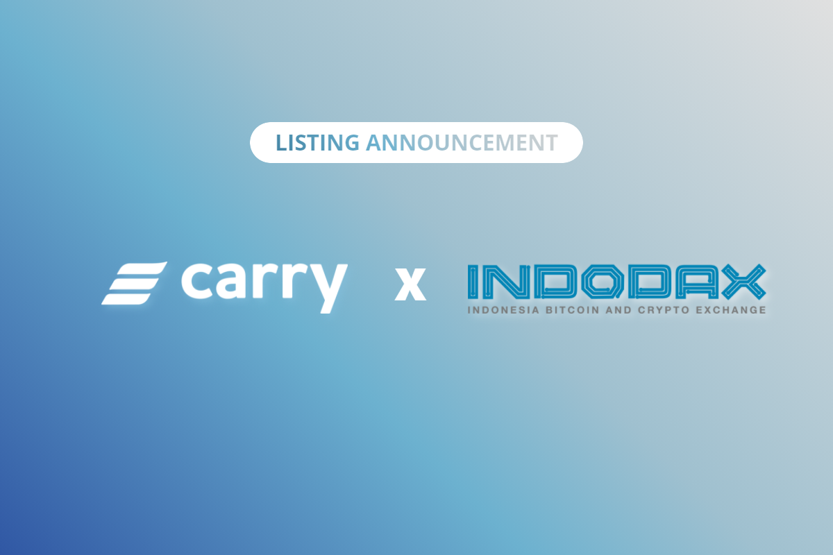 Carry token (CRE) will be listed on Indodax