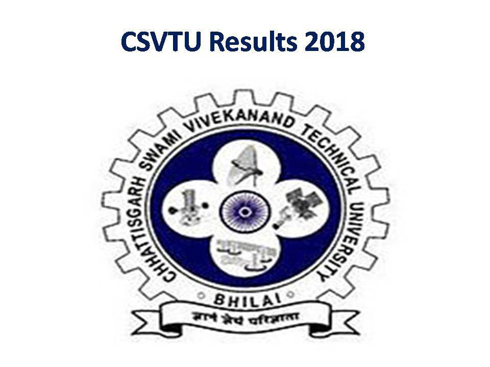 CSVTU Results 2018 VTU B Tech/B Pharmacy/B Arch/MBA/MCA/M Tech Result