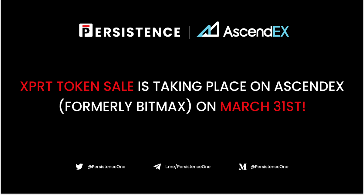 XPRT Token Sale To Launch on AscendEX (Formerly BitMax) on March 31st: Full Details
